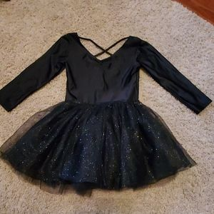 Girls H&M Black Glitter Leotard